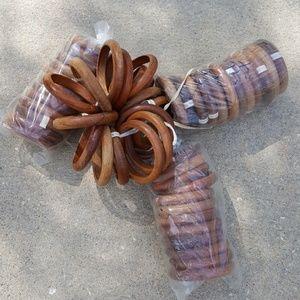 Jewelry - Set of 53 wooden bracelets